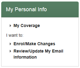 My Benefits - My Personal Info Box