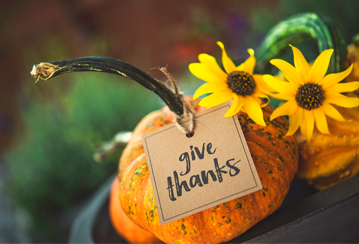 This Fall, focus on gratitude